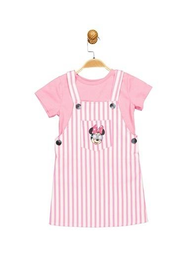 Minnie Mouse Lisanslı Çocuk Salopet Takım 17659 Ekru